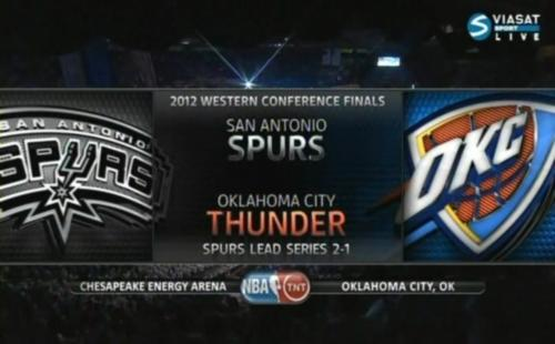 NBA Playoffs 2012 / West / Final / Game 4 / 02.06.2012 / San Antonio Spurs - Oklahoma City Thunder